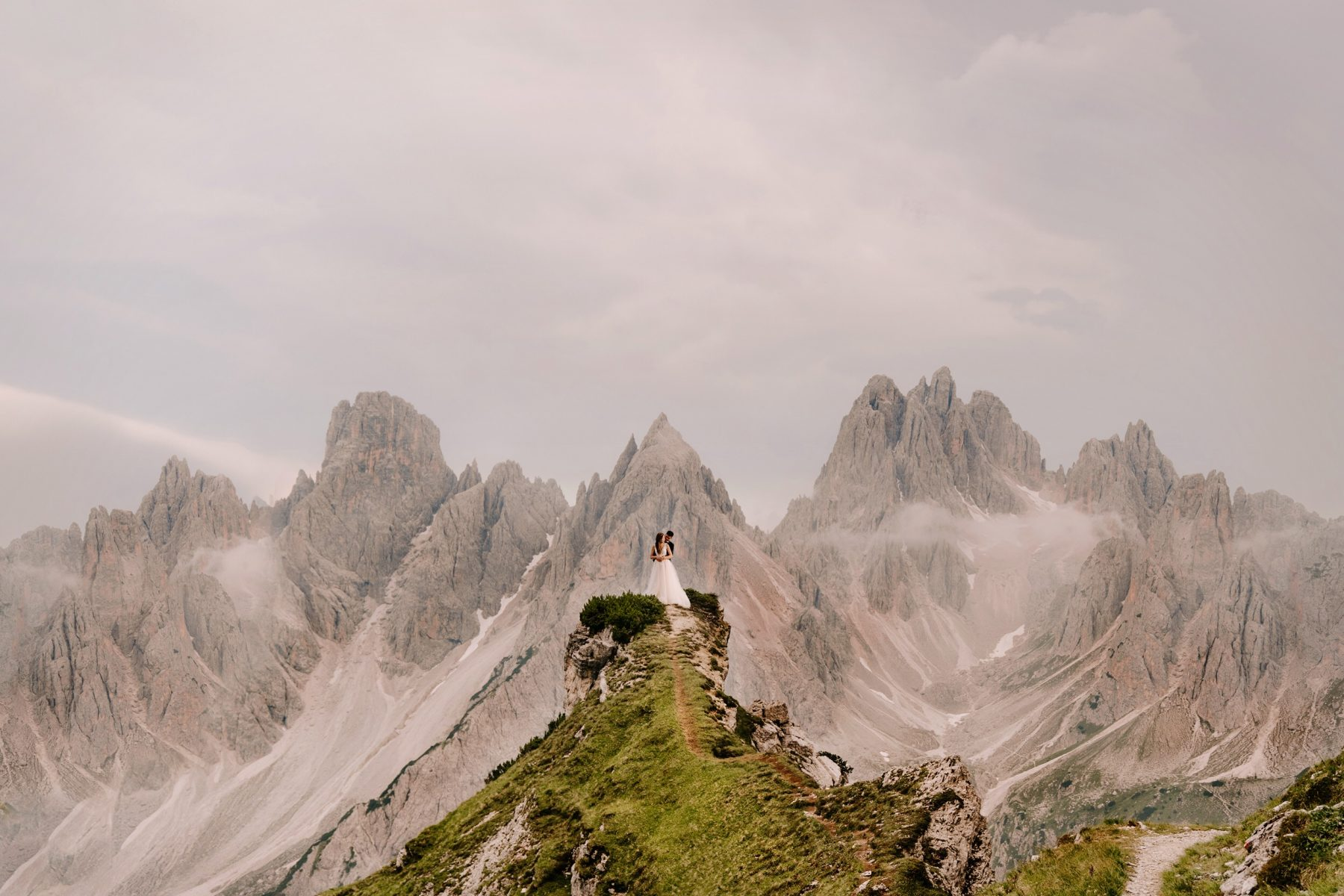 Wedding Couple in the Dolomites
